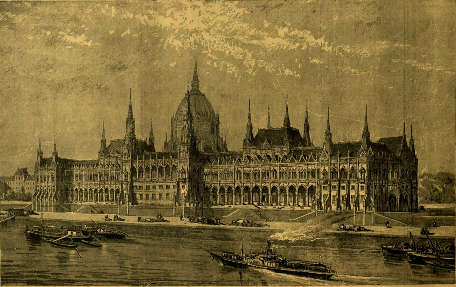 Hungarian Parliament Old