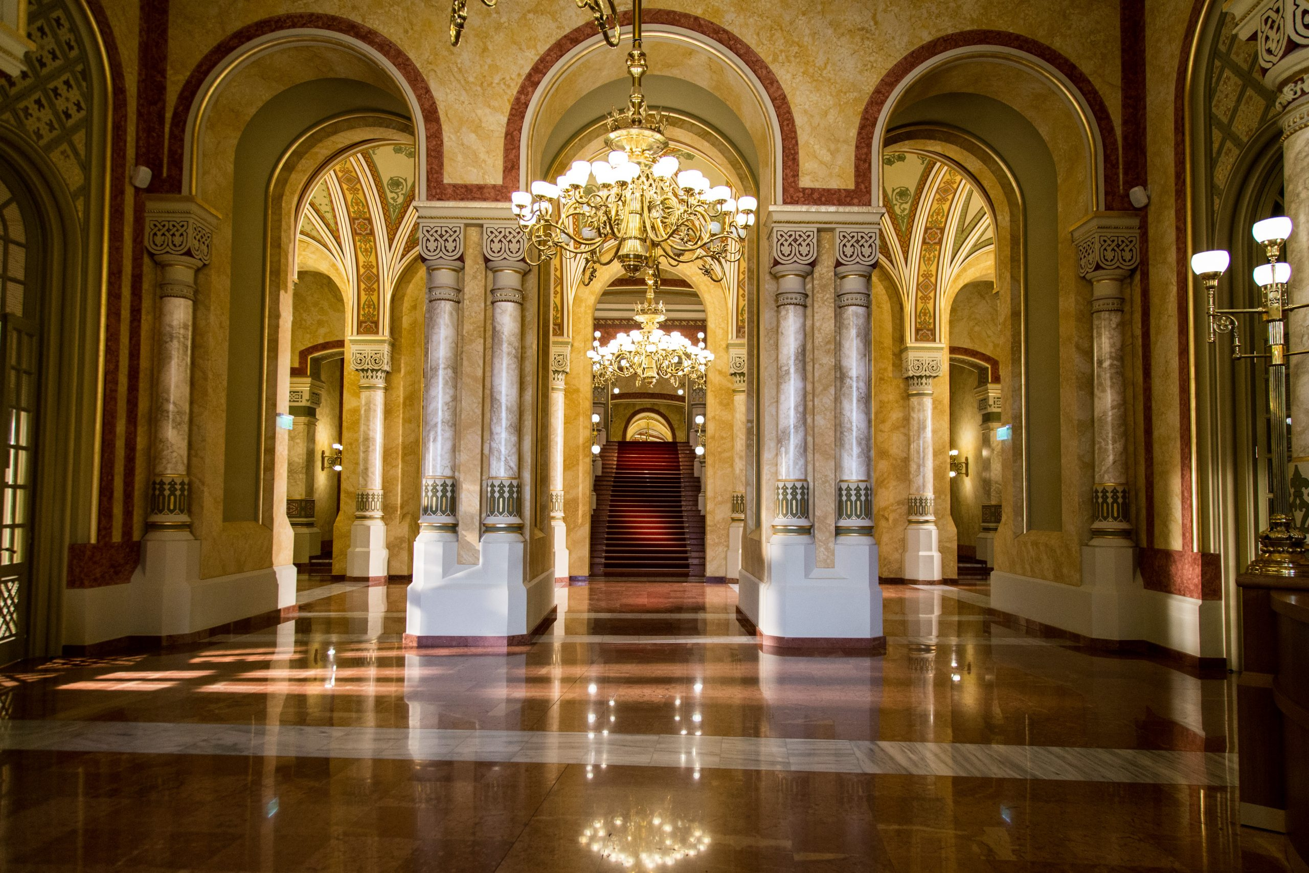 The entry hall of Vigado